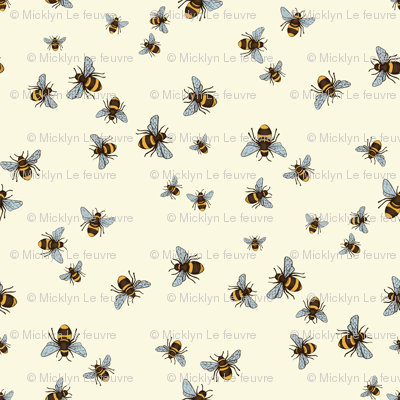 Happy Bee Dance on Cream