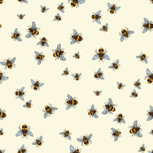 Happy Bee Dance on Cream