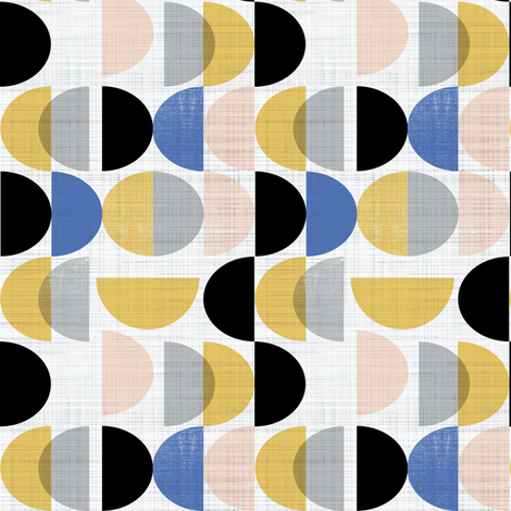 Bauhaus semi circles small scale  fabric by gemmacosgroveball on Spoonflower - custom fabric
