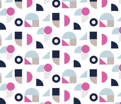Bauhaus color blocks fabric by yopixart on Spoonflower - custom fabric