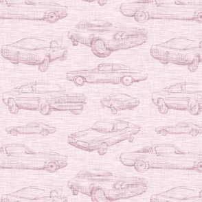 Muscle Cars - Light Pink