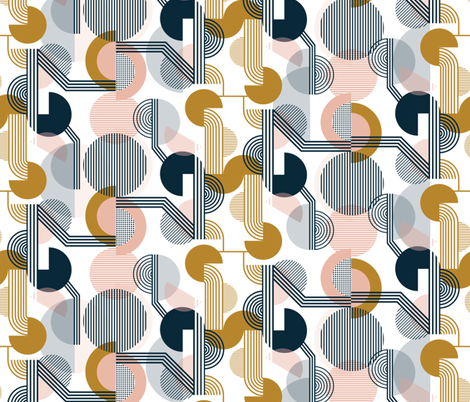 Bauhaus Retro fabric by sarah_knight on Spoonflower - custom fabric