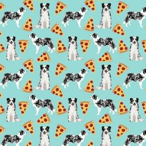 blue merle border collie (small scale) pizza fabric cute blue merle pizzas fabric cute dogs design pizzas design cute dogs