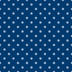 Dots on Blue