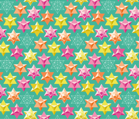 Maths Star fabric by lena_pugachova on Spoonflower - custom fabric
