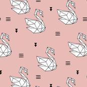 Origami swans Japanese paper art swan lake pink girls