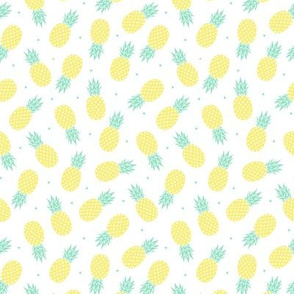 Pineapple - White Background -xs