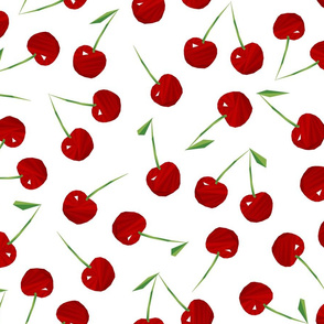 Cherries Cherries on White