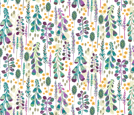 Foxglove Meadow fabric by jill_o_connor on Spoonflower - custom fabric