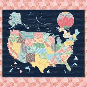 42x36 Panel - Nomi & Brave Travel America