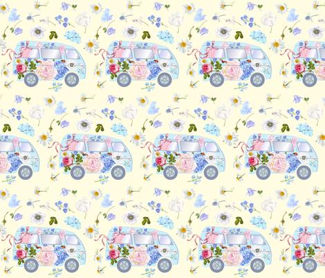 Floral bus fabric by purple-bird on Spoonflower - custom fabric