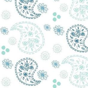 paisley doodle VERTICAL468 - ocean mint