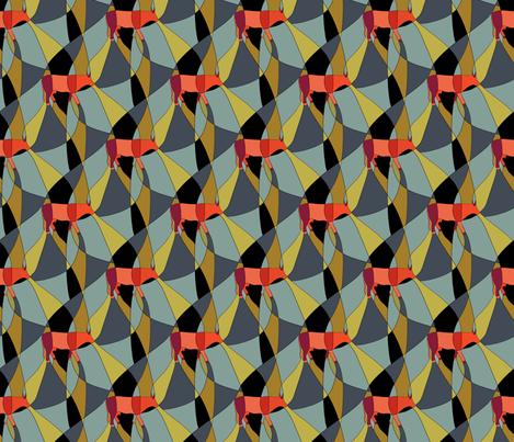 Bau Cow - Small fabric by fernlesliestudio on Spoonflower - custom fabric