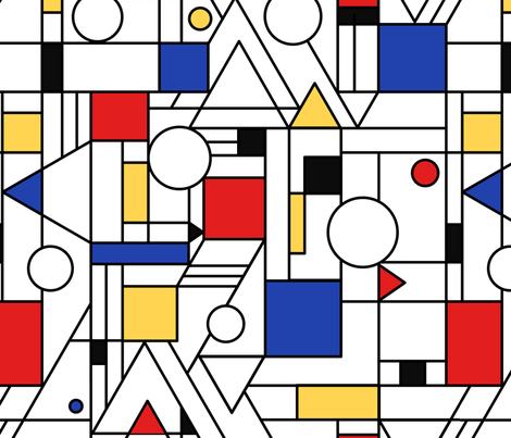 Bauhaus style fabric by olgart on Spoonflower - custom fabric
