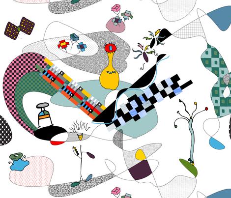 Bauhaus Dreams fabric by goatfeatherfarm on Spoonflower - custom fabric