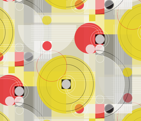 Bauhaus Morning Symphony_Lg fabric by robinpickens on Spoonflower - custom fabric