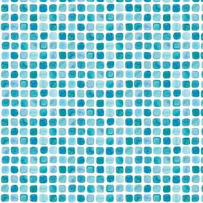Watercolor square dots