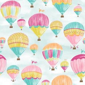 """Hot Air Balloons 8"""" repeat"""