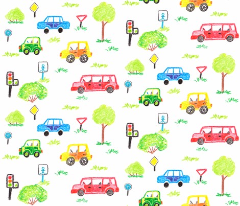 Four Wheels fabric by katerinasaff on Spoonflower - custom fabric