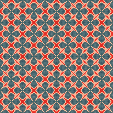 Red and Blue 5 fabric by blerta on Spoonflower - custom fabric