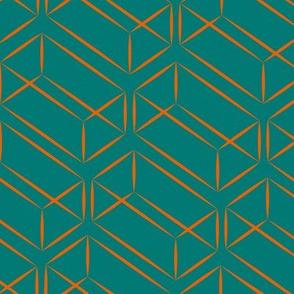 Bauhaus Orange Prisms