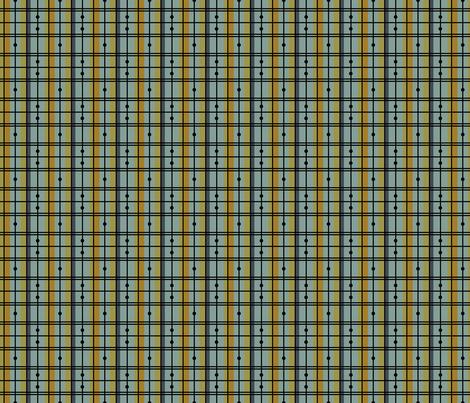 Bau Cow Plaid - Blue fabric by fernlesliestudio on Spoonflower - custom fabric