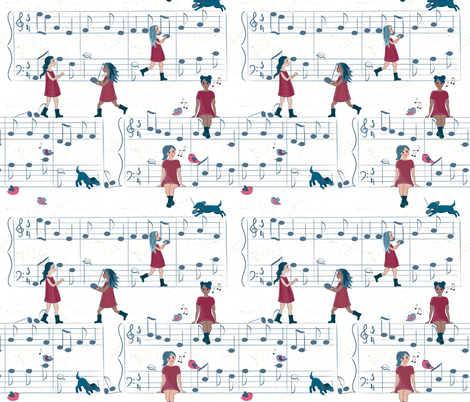 Making Music with Help from my Friends fabric by jennifer_todd on Spoonflower - custom fabric