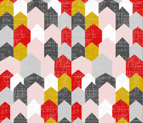 bauhaus haus fabric by mrshervi on Spoonflower - custom fabric