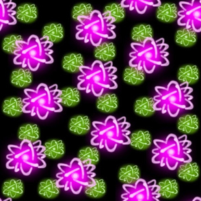 princess fusion - pink and green scattered