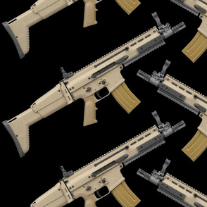 FN SCAR Rifle Angled Repeat