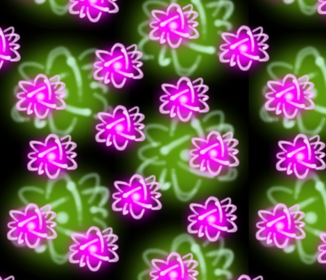 princess fusion 2 - pink and green fabric by victorialasher on Spoonflower - custom fabric