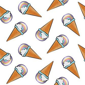 pastel rainbow icecream cones - purple