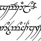 White Elvish Writing Large