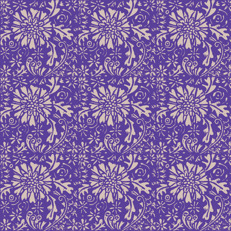 Fall Asters lavender-ch fabric by bad_penny on Spoonflower - custom fabric