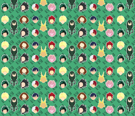 My Hero Academia fabric by mariellisdesign on Spoonflower - custom fabric
