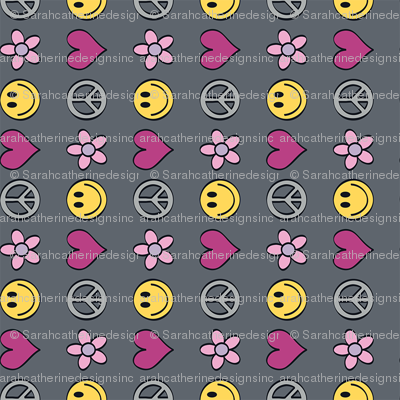 Peace-Love-Happiness-Flowers (Dk Background_Vertical)
