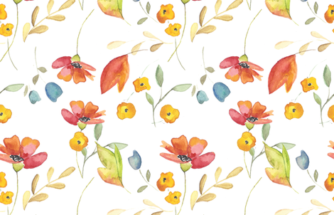 Watercolor Poppies - Largw fabric by charlottes_webtique on Spoonflower - custom fabric