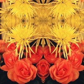 YellowMums OrangeRoses-LARGE-mirror