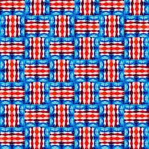Patriotic Basket Weave