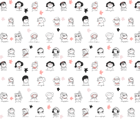 Magnificent Women fabric by how-store on Spoonflower - custom fabric