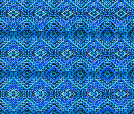 Blue Pineapple Diamonds fabric by just_meewowy_design on Spoonflower - custom fabric