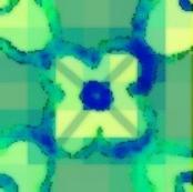 plaid minty flowers