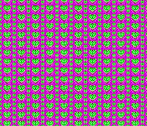 Random Green Hearts fabric by just_meewowy_design on Spoonflower - custom fabric