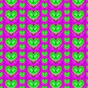Random Green Hearts