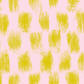 Checkered Gold Brush for Bauhaus (blush)