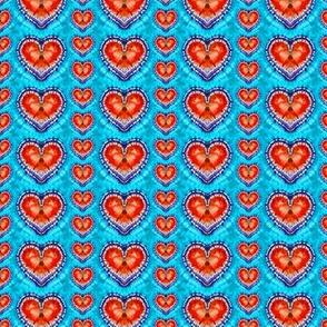 Random Red Hearts