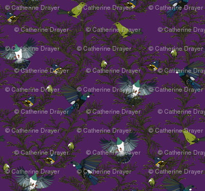 Bird repeat purple