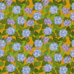 Hydrangea tile mustard - medium