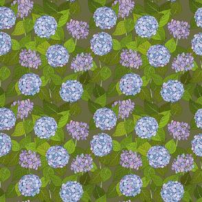 Hydrangea tile moss - medium