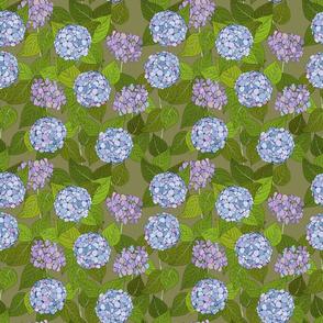 Hydrangea tile green